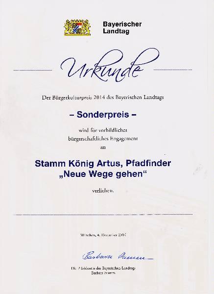 Urkunde Landtag